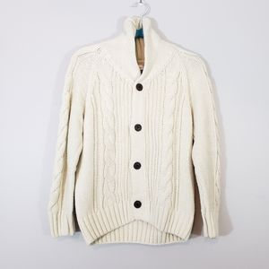 GYMBOREE Boy's White Buttoned Sweater